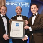 Andy and Gary Accepting Contractor of The Year Electrical Award
