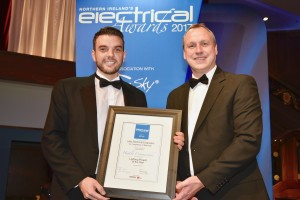 Mark Accepting Lighting Project Of Year Electrical Award