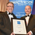 Ian Accepting UnSung Hero Award at the Electrical Awards